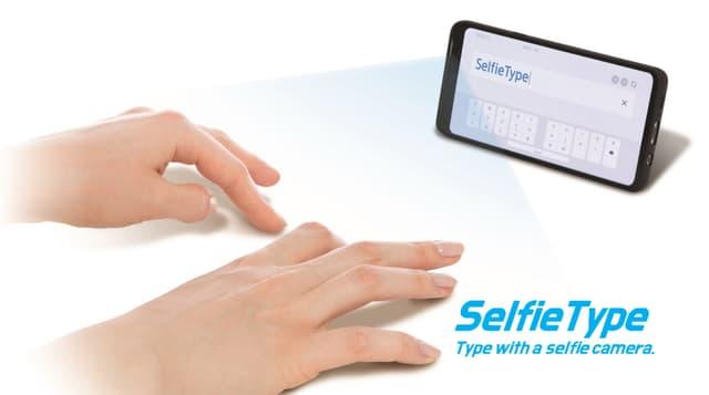 SelfieType, le clavier virtuel de Samsung.