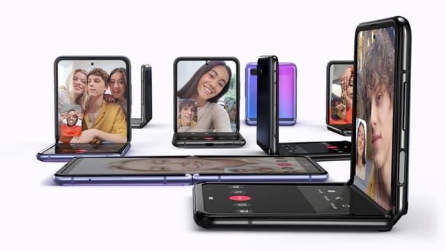 Le Samsung Galaxy Z Flip présenté à San Francisco ce mardi 11 février 2020.