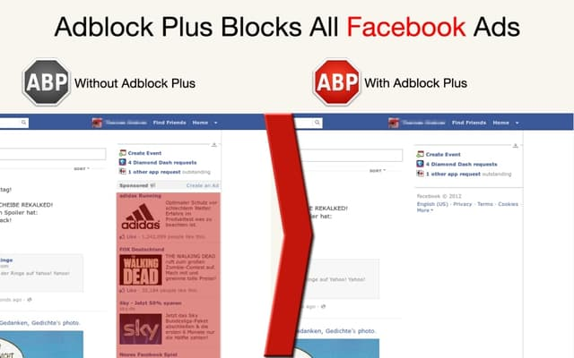 Avant et après l'utilisation d'un adblocker, la différence est flagrante.