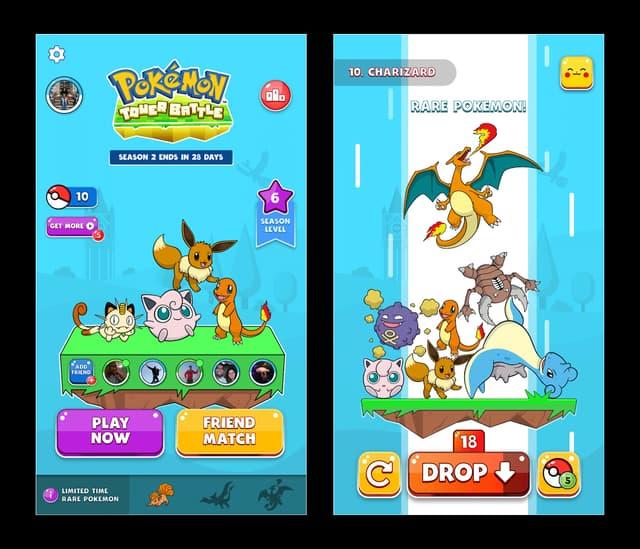 Grimpez les niveaux et capturez de nouveaux Pokémon en affrontant vos amis ou des adversaires inconnus.