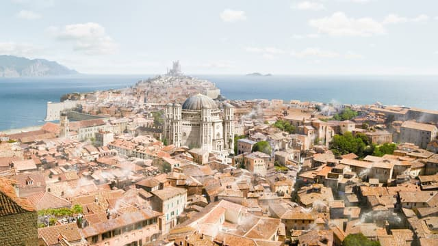 La ville de Dubrovnik, en Croatie, qui sert de décor à Port Réal, dans Game of Thrones.