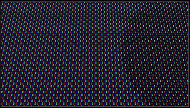 Les pixels sont plus petits au niveau de la caméra sous-écran