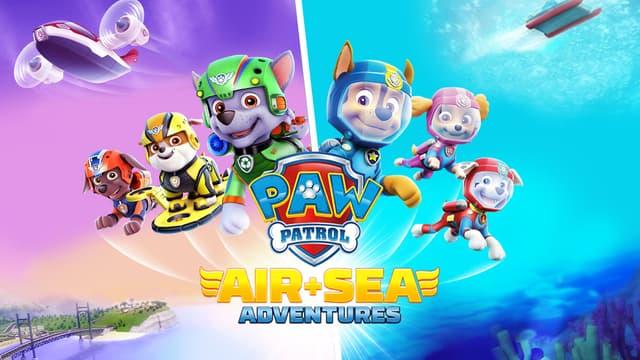 """Choisissez votre chiot préféré pour relever les défis de """"PAW Patrol : Air & Sea Adventures""""."""