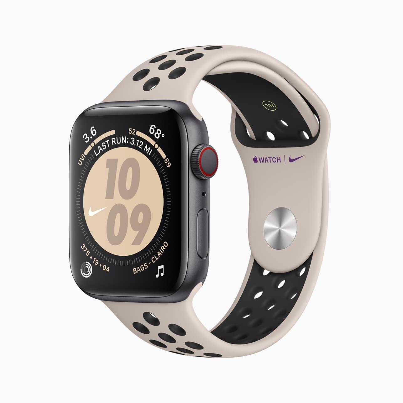 Un des quatre modèles d'Apple Watch Nike