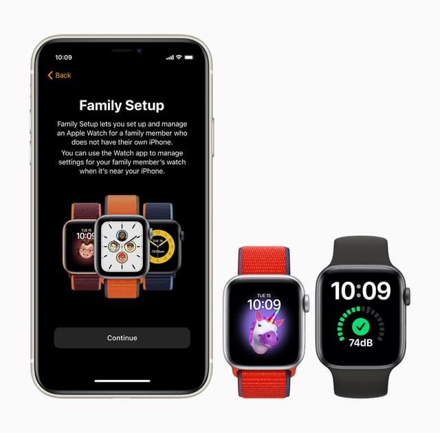 Via watchOS 7, l'Apple Watch SE peut être portée par des personnes de la famille n'ayant pas d'iPhone