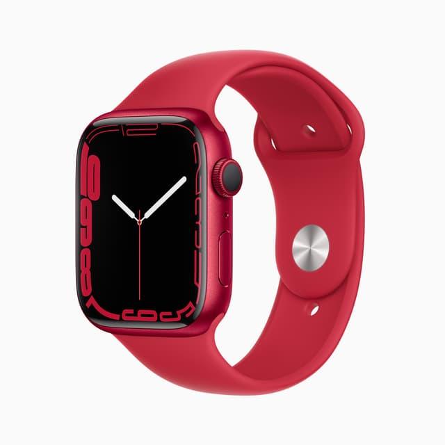 """Un nouveau cadran """"Contour"""" vient magnifier le nouvel écran aux bords agrandis de l'Apple Watch Series 7."""
