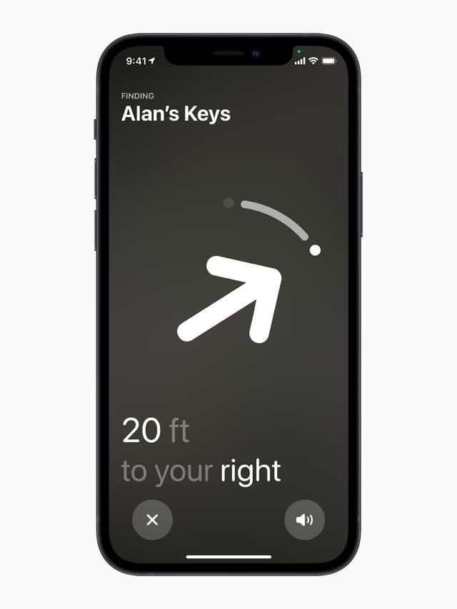 Votre iPhone vous guidera jusqu'à l'emplacement précis de votre AirTag.