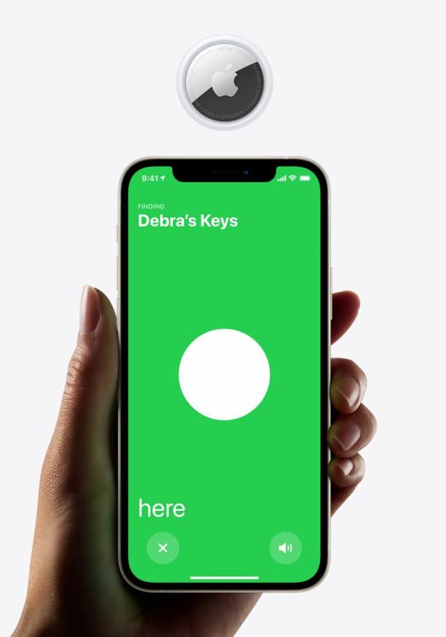 Localisez votre AirTag (et donc votre objet égaré auquel il est attaché) avec votre iPhone.