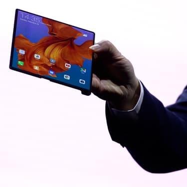 Première présentation du Huawei Mate X, le 24 février 2019 à Barcelone.