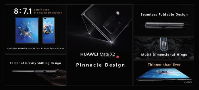 Les caractértistiques techniques et le design du Huawei Mate X2