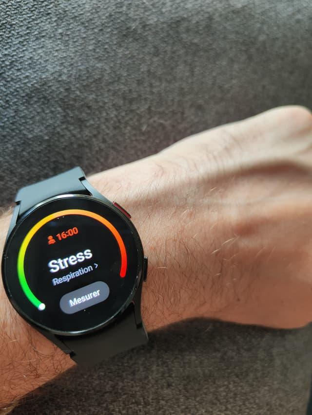 La Samsung Galaxy Watch4 peut indiquer votre niveau de stress