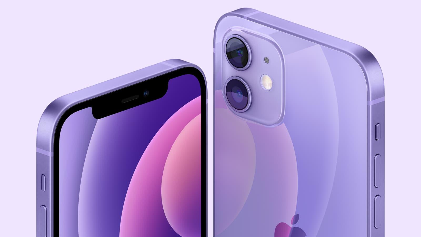 L'iPhone 12, version mauve, bientôt chez SFR