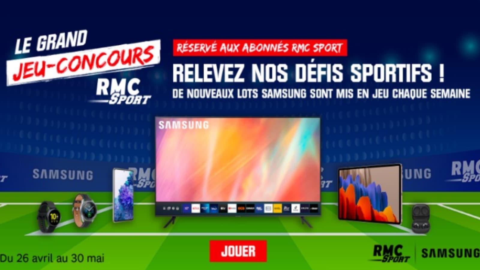 Gagnez des cadeaux Samsung avec RMC Sport