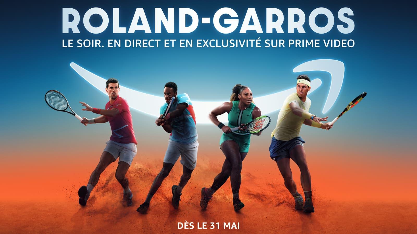 Réservez vos soirées pour Roland-Garros sur Prime Video