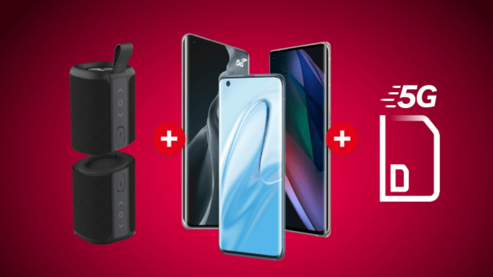 Trio gagnant : smartphone 5G + forfait 5G = enceinte gratuite