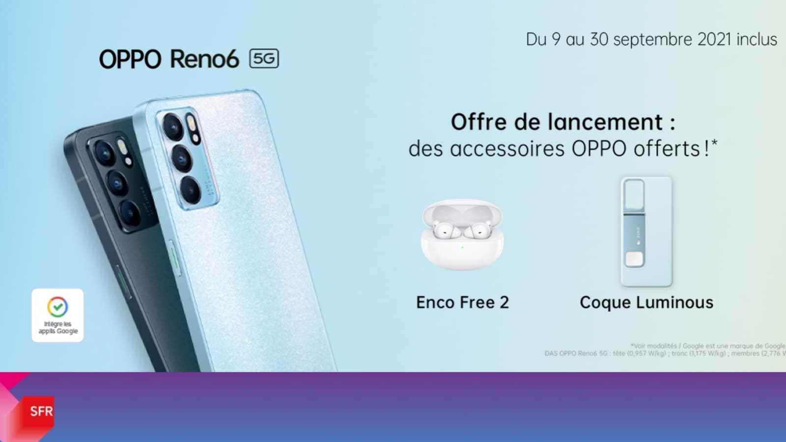 Précommandez le OPPO Reno6 5G chez SFR