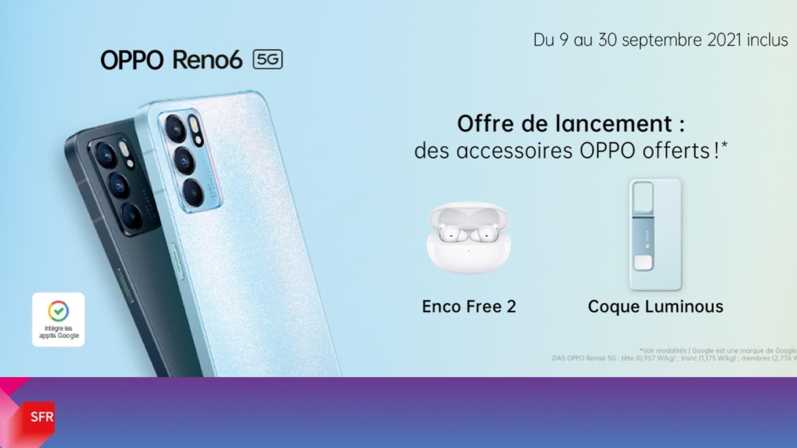OPPO Reno6 : jusqu'à 239 euros de bonus de précommande