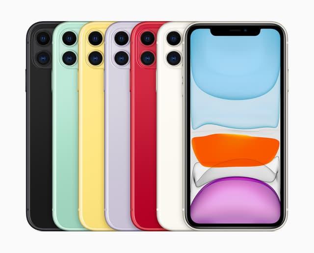 L'iPhone 11 est disponible 6 coloris
