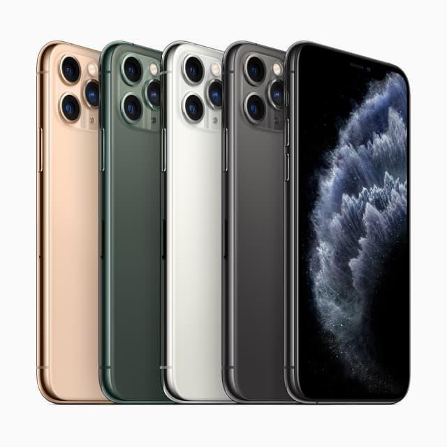 L'iPhone 11 Pro et l'iPhone 11 Pro Max se déclinent en vert profond, gris sidéral, argent et or