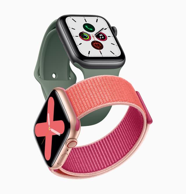 L' Apple Watch Serie 5 présente un nouvel écran et de nouvelles fonctions