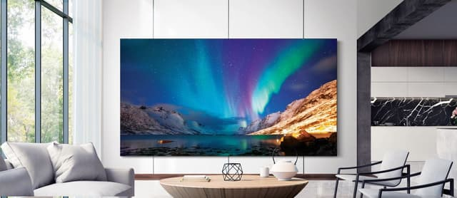 Le téléviseur sans bords édifiant de Samsung