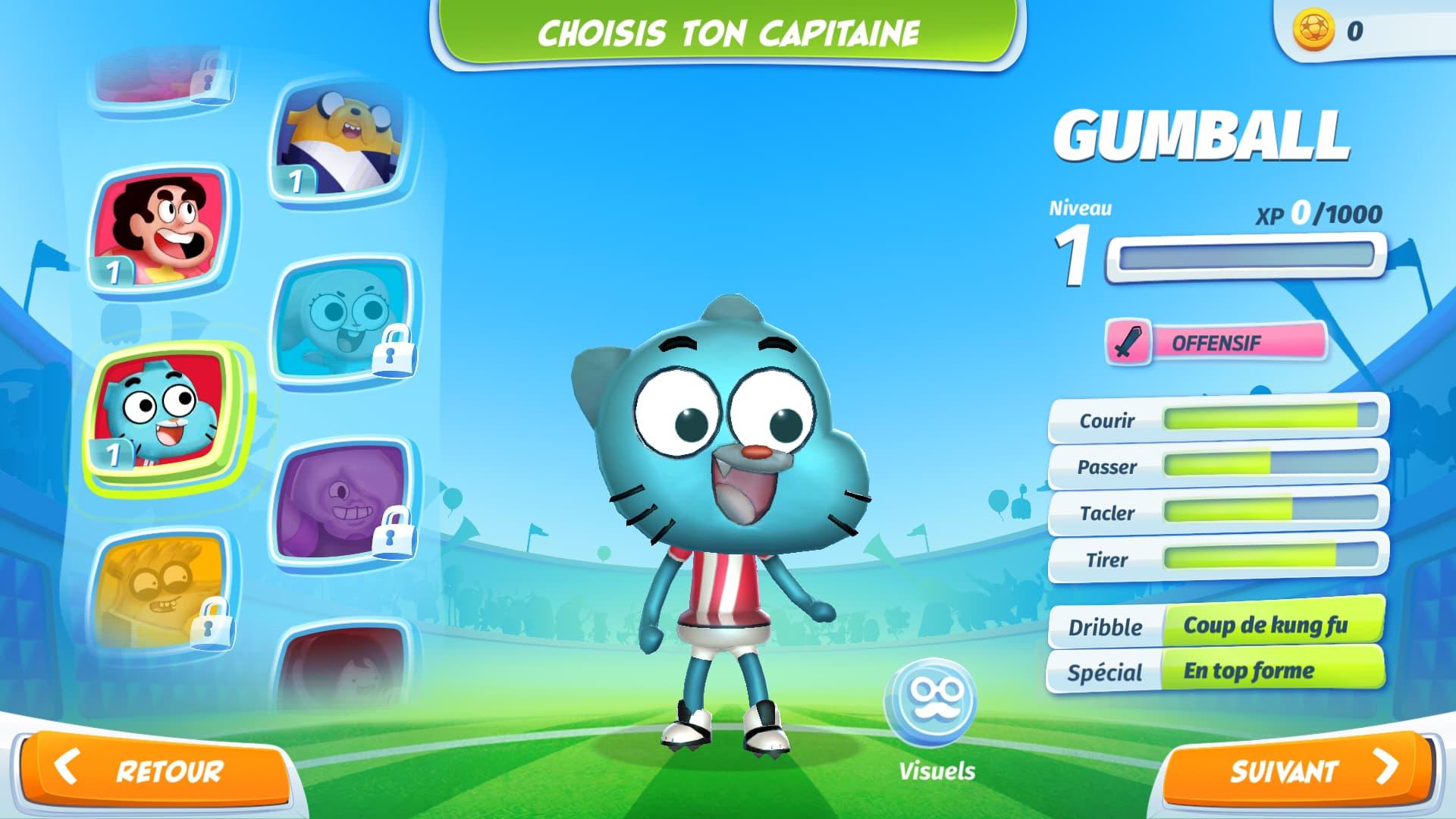 Gumball, Steven Universe, Adventure Time, Regular Show, tout l'univers des dessins animés de Cartoon Network s'est réuni dans le jeu mobile CN Superstar Soccer : Goal !!!.