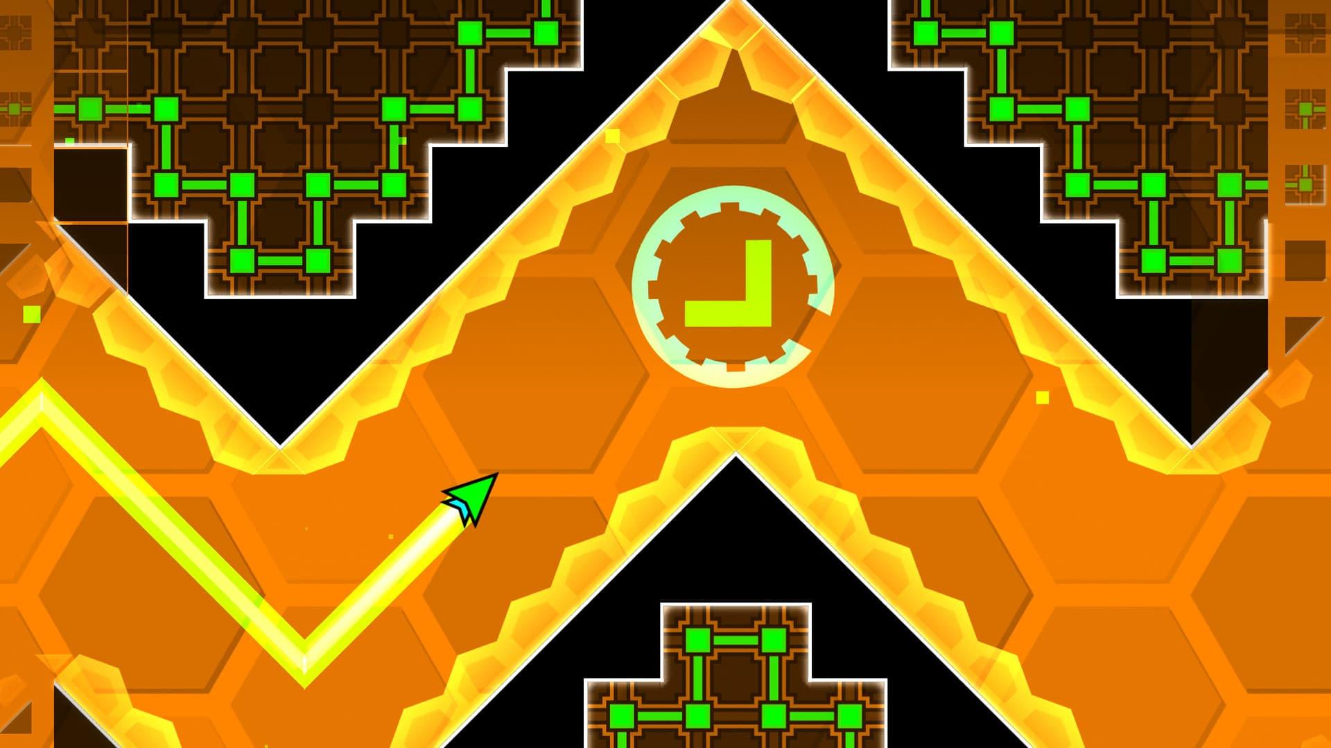Votre cube se transforme en navette spatiale le temps d'un niveau.