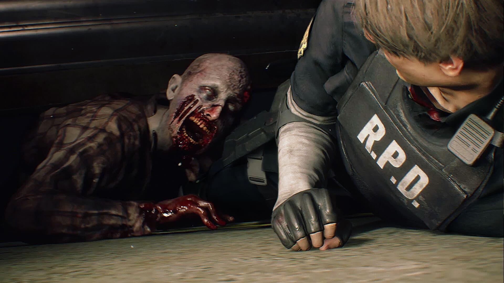 La police ne peut rien y faire, les zombies sont bien prêts à dévorer tout le monde dans Resident Evil 7.