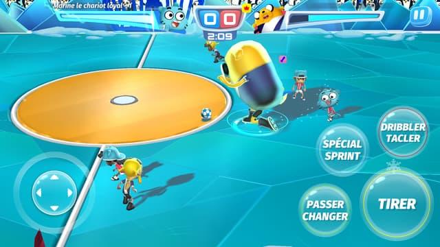 Personnages gigantesques, super-pouvoirs, tirs spéciaux, tout est possible dans le jeu mobile CN Superstar Soccer : Goal !!!.