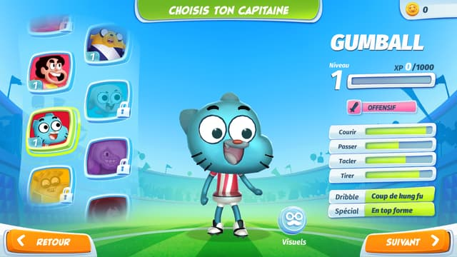 Gumball, Steven Universe, Adventure Time, Regular Show, tout l'univers des dessins animés de Cartoon Network s'est réuni dans le jeu mobile CN Superstar Soccer : Goal !!!.
