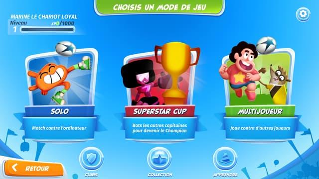 En solo, superstar cup ou multijoueur en ligne, de nombreux modes de jeux s'offrent à vous sur mobile avec CN Superstar Soccer : Goal !!!.