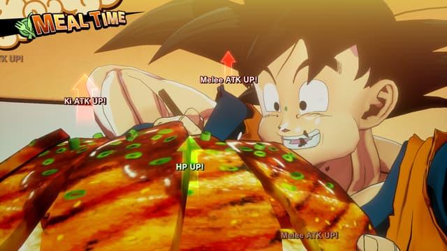 Son Goku face à son adversaire préféré : un bon repas