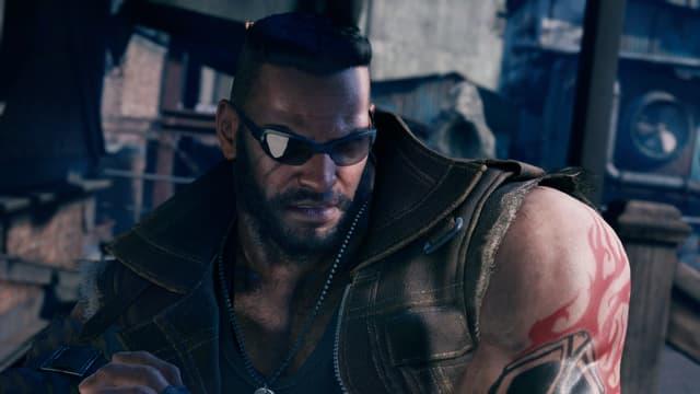 Barett a un nouveau look, mais toujours un sale caractère dans Final Fantasy VII Remake