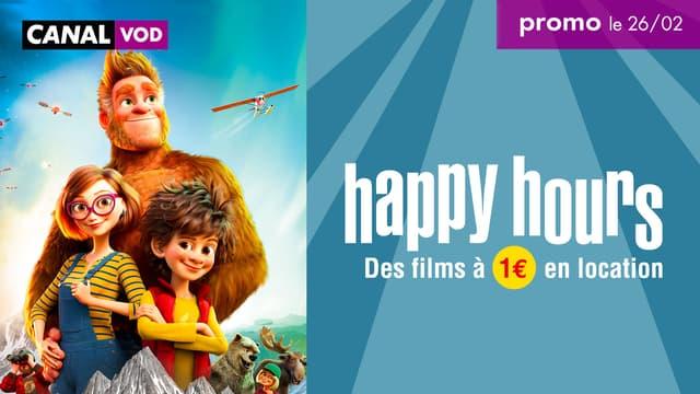 Ce vendredi 26 février, pendant 24 heures, profitez d'une sélection de films à 1 euro sur CANAL VOD depuis la box SFR.
