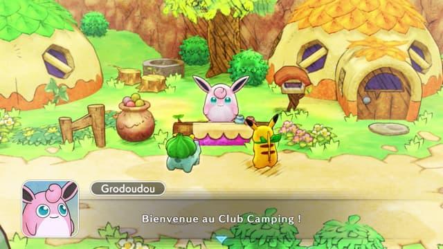 Grodoudou sera toujours présent dans Pokémon Donjon Mystère Équipe de Secours DX sur Nintendo Switch !