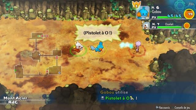 Un aperçu des donjons dans Pokémon Donjon Mystère : Équipe de Secours DX.