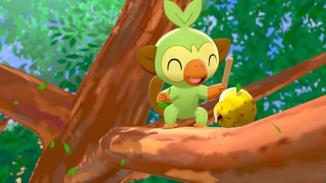 Ouistempo, starter de type Plante dans Pokémon Épée et Bouclier.