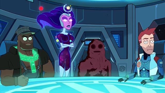 Les Vindicators dans l'épisode 4 de la saison 3 de Rick et Morty