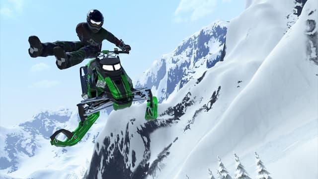 Les figures n'auront plus de secret pour vous dans Snow Moto Racing.