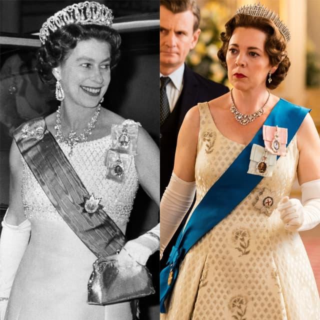 La ressemblance entre la reine Elizabeth II et Olivia Colman est saisissante.