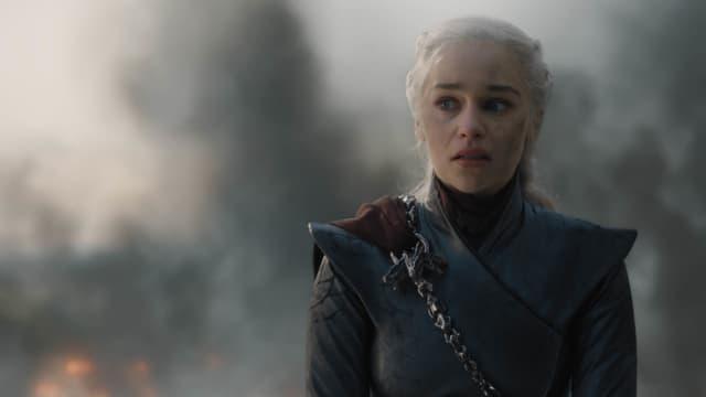 Daenerys Targaryen (Emilia Clarke), grande prétendante au trône de fer dans Game of Thrones.