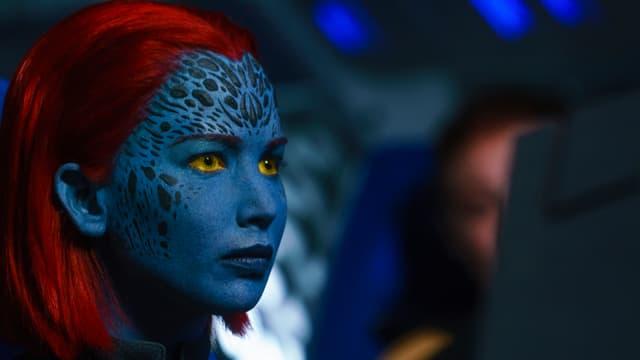Mystique, mutante incarnée par l'actrice Jennifer Lawrence, dans le film X-Men : Dark Phoenix.