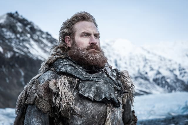 Tormund Fléau-d'Ogres, dans le grand Nord de Game of Thrones.