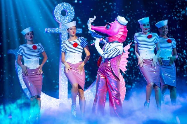 L'hippocampe dans Mask Singer sur TF1.