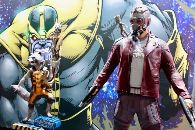 Retrouvez Rocket, Star-Lord, Groot et bien d'autres dans les allées de la convention.