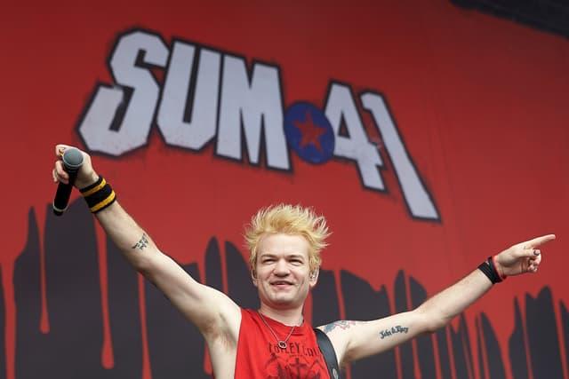 Deryck Whibley lors du passage de Sum 41 au festival Rock Am Ring en Allemagne en 2017