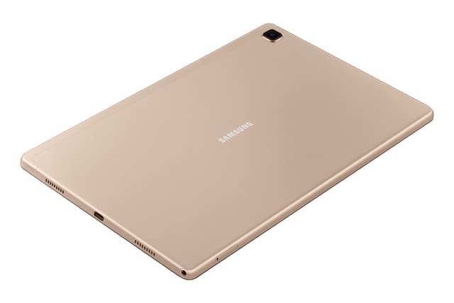 La Galaxy Tab A7 présente une bien jolie parure métallique.