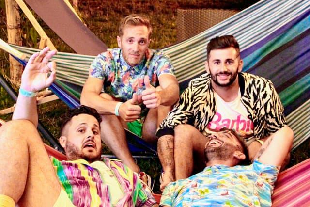 Jonathan, Yannick, Florent et Arnaud, les quatre Niçois du groupe Kitchies.