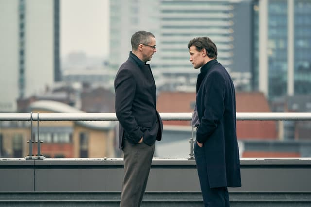 Matt Smith et Matthew Goode dans Official Secrets.