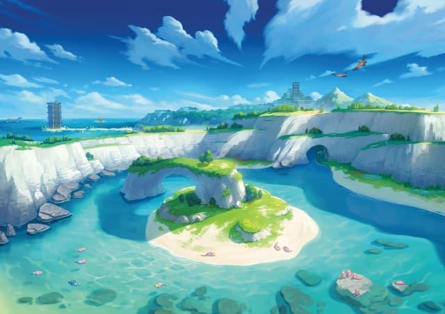 L'île solitaire de l'armure, première partie du DLC de Pokémon Épée et Bouclier.